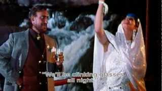 Raat Bhar Jaam Se (Eng Sub) [Full Video Song] (HD) With Lyrics - Tridev