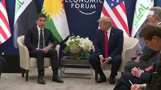 President Trump Participates in a Bilateral Meeting with the President of the Kurdistan