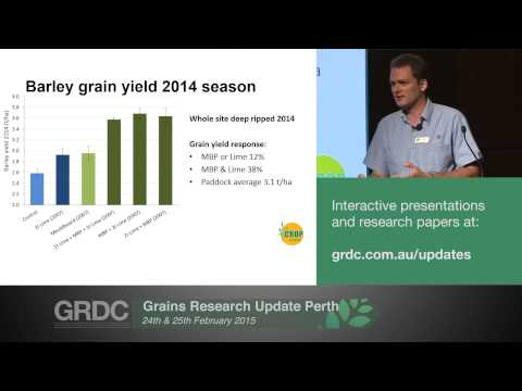 Agribusiness Crop Updates 2015 | Perth | Soil amelioration: Long term responses - S. Davies