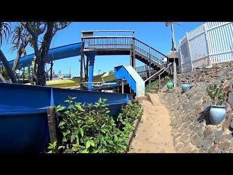 Tube Yellow Water Slide at Splash Waterworld