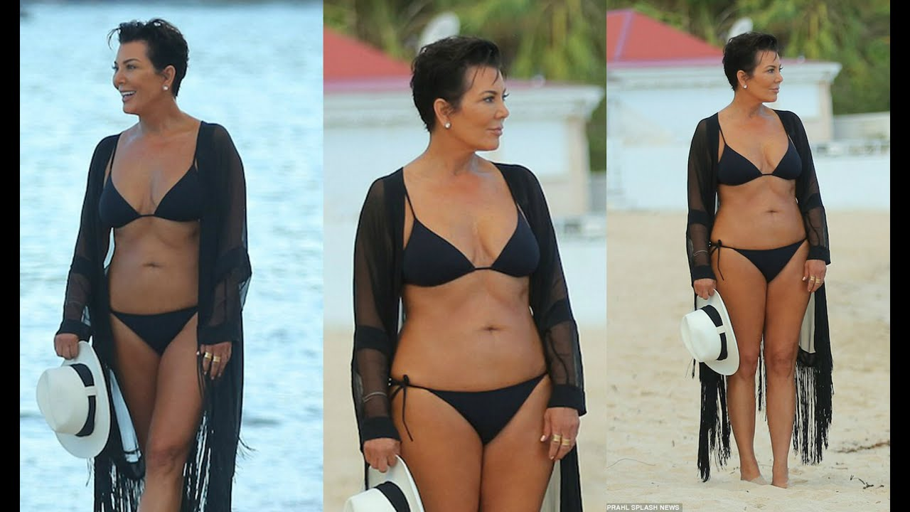 Kris Jenner Hot In Black Bikini - Youtube-1605