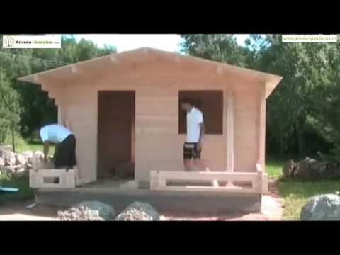 Installazione casa prefabbricata in legno