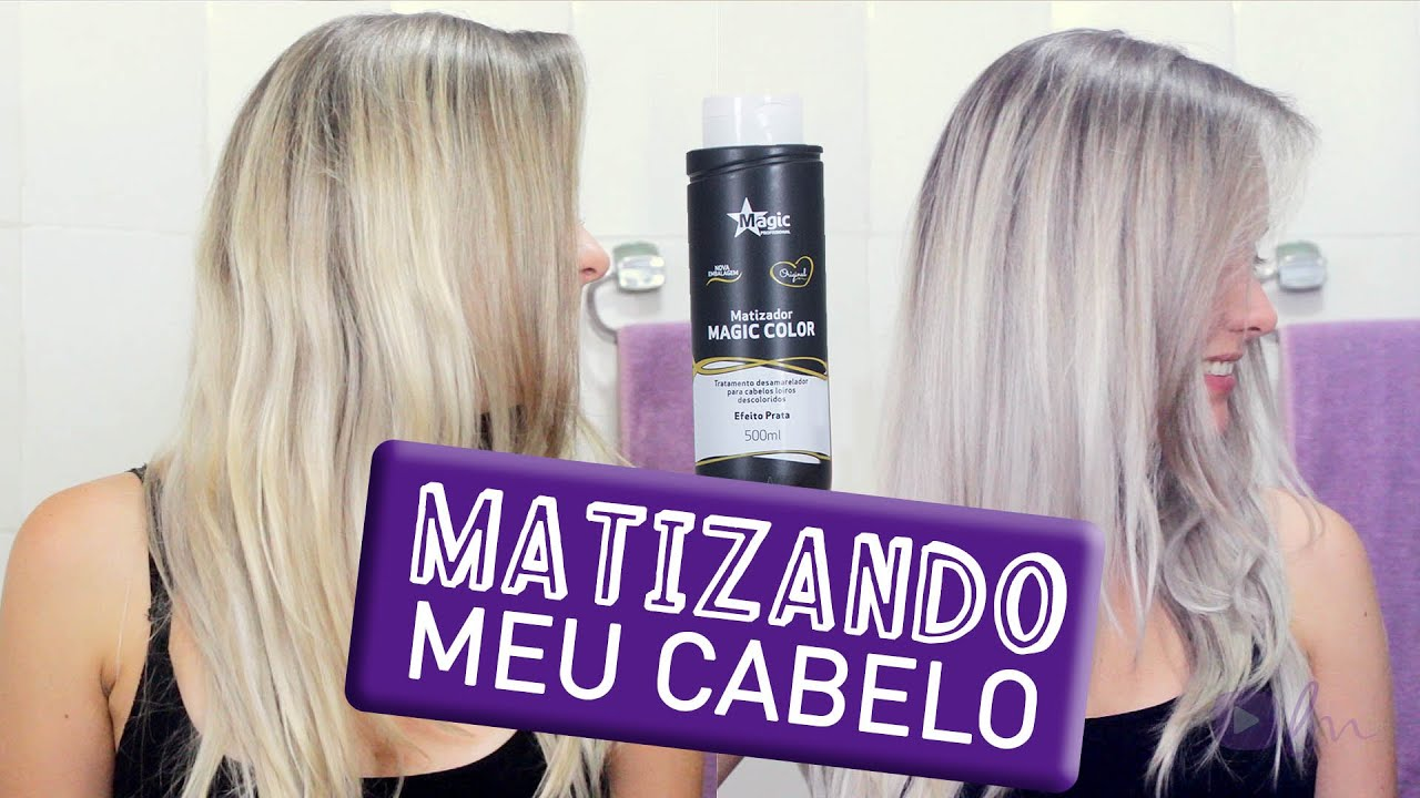 41ab83238 Como Eu Matizo Meu Cabelo (Magic Color - Efeito Prata) - YouTube