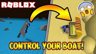 HOW TO STEER YOUR BOAT! (ROBLOX Build A Boat For Treasure)