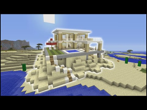Minecraft tutorial how to make a beach house biome house for How to build a beach house