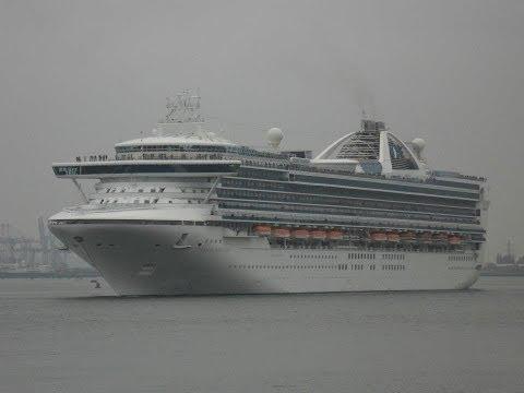 """Adonia"", ""Grand Princess"", ""Independence OTS"" & ""Queen Elizabeth"" depart Southampton - 02/05/2012"