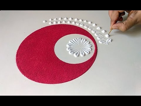 Easy, quick and beautiful rangoli design