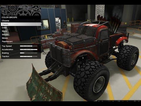 GTA 5 - Arena War DLC Vehicle Customization - Apocalypse Sasquatch (Monster Truck - Rat Truck)