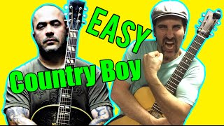 How To Play - Country Boy by Aaron Lewis - Acoustic Guitar Lesson - EASY Drop D Song