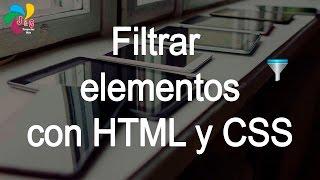 Filtrar elementos con HTML y CSS