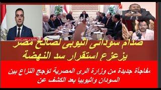مفاجأة جديدة من وزارة الرى المصرية لامان سد النهضة تؤجج النزاع بين السودان واثيوبيا بعد الكشف عن