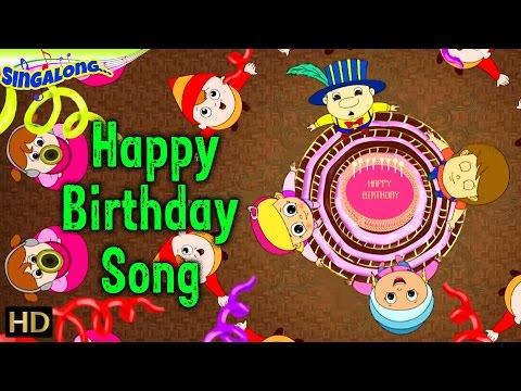 Happy Birthday - (HD) | Rock Music Style | Nursery Rhymes | Popular Kids Songs