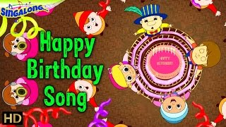 Happy Birthday - (HD) | Rock Music Style | Nursery Rhymes | Popular Kids Songs