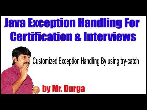 java-exception-handling-||-customized-exception-handling-by-using-try-catch-by-durga