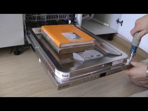Как снять панель с посудомоечной машины