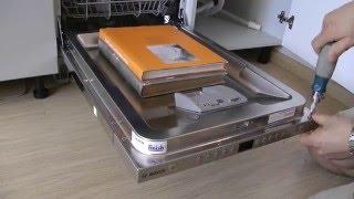 Посудомоечная машина BOSCH spv58m50ru. Монтаж и настройка жесткости воды.