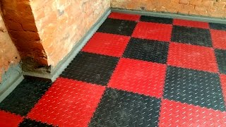 Jak se pokládá podlaha Fortelock do sklepa pod nový peletkový kotel Guntamatic