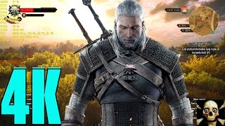 The Witcher 3 Gtx 1080 4K UltraHD Maxed Settings Ultra  Fps Gameplay