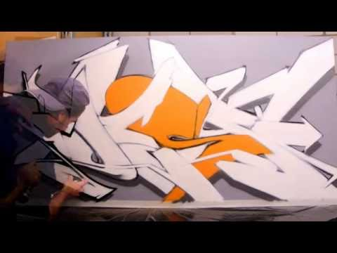 graffiti Can control small piece #8 - Mess by Pensil - fading with the final