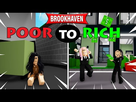 Going from Poor to Rich on Brookhaven! | Roblox Roleplay