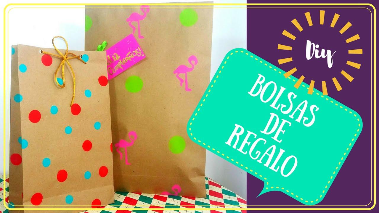 bb438f7e3 CÓMO HACER BOLSAS DE REGALO? | HAZ TU PROPIO PAPEL DE REGALO - YouTube