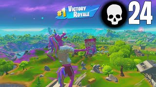 High Elimination Solo vs Squads Win Gameplay Full Game Season 8 (Fortnite PC Controller)