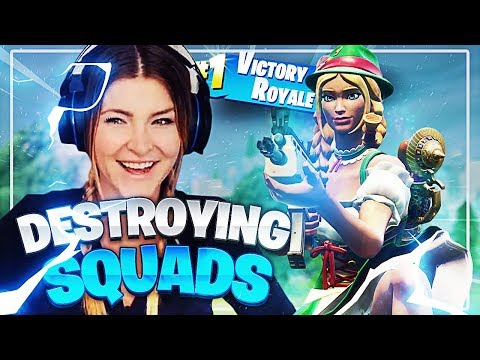 DESTROYING SQUADS! DUOS VS SQUADS w/ Ava (Fortnite: Battle Royale) | KittyPlays