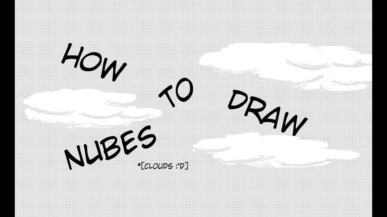 How to draw CLOUDS  Como dibujar nubes  Tutorial esquizofrnico