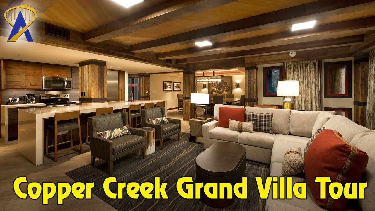 Grand Villa Tour In Copper Creek At Wilderness Lodge Youtube