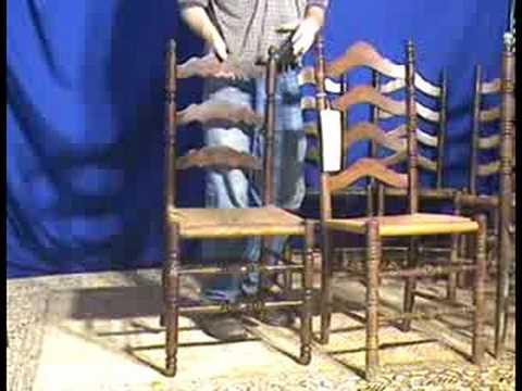 Oak Ladderback Chairs With Rush Seats