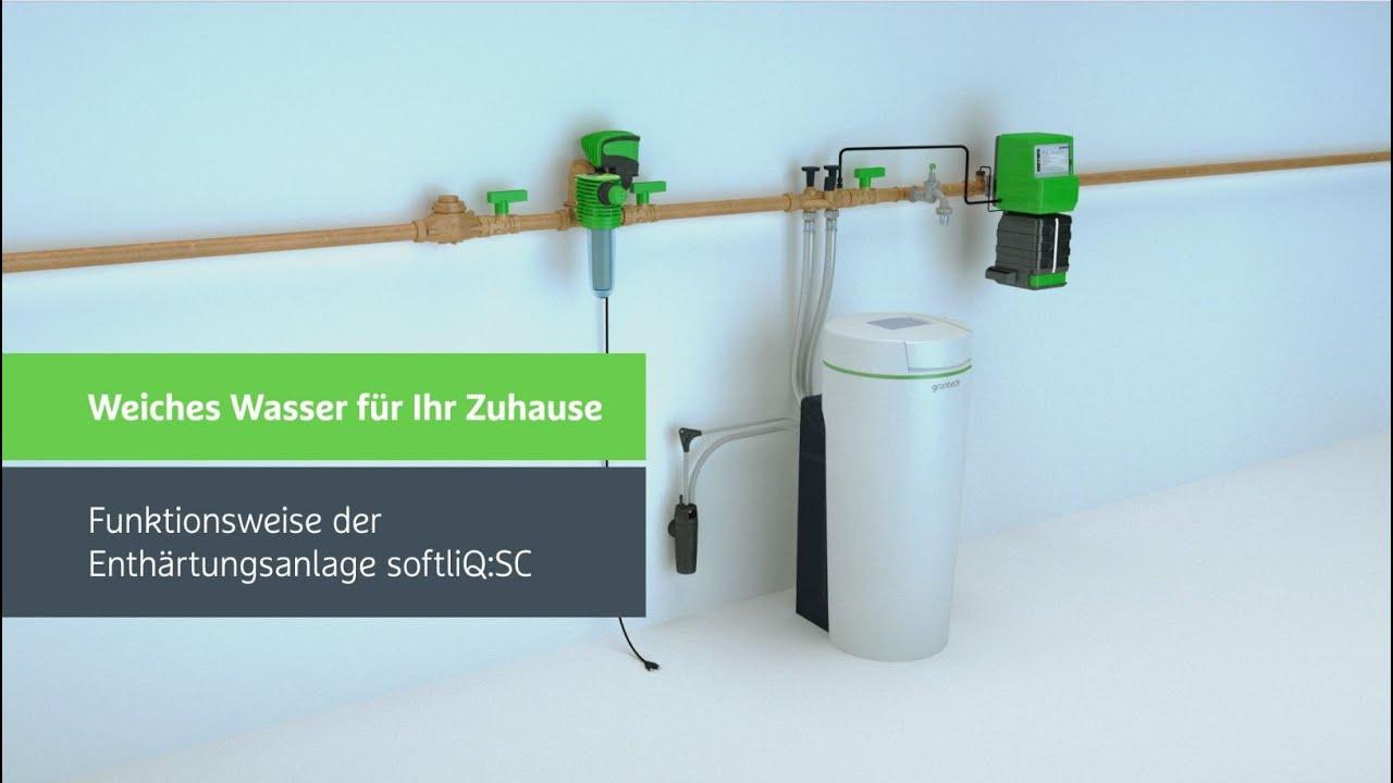 Lieblings Funktionsweise der Enthärtungsanlage softliQ:SC von Grünbeck - YouTube #GL_02