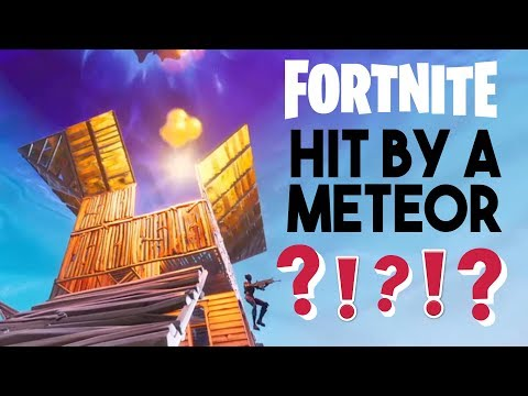 HIT BY A METEOR In FORTNITE!