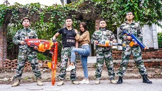 Nerf War: Special Marines 😡 Commando Nerf Guns Seven Assassin Rescue Princess Nerf Movie