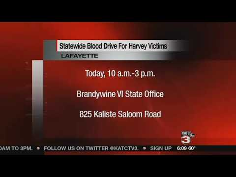 Gov. Edwards sponsoring blood drive for Harvey victims