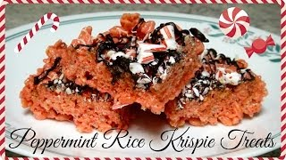 Easy Peppermint Rice Krispie Treats | As Seen On Pinterest