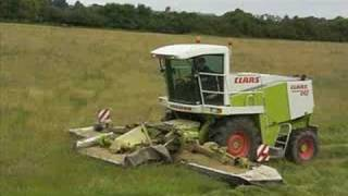 Claas 840 with 30ft mower