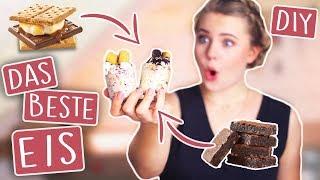 DAS BESTE EIS DER WELT! (DIY) 😍🇺🇸 - Cookie Dough & S'mores! | CHALLENGE