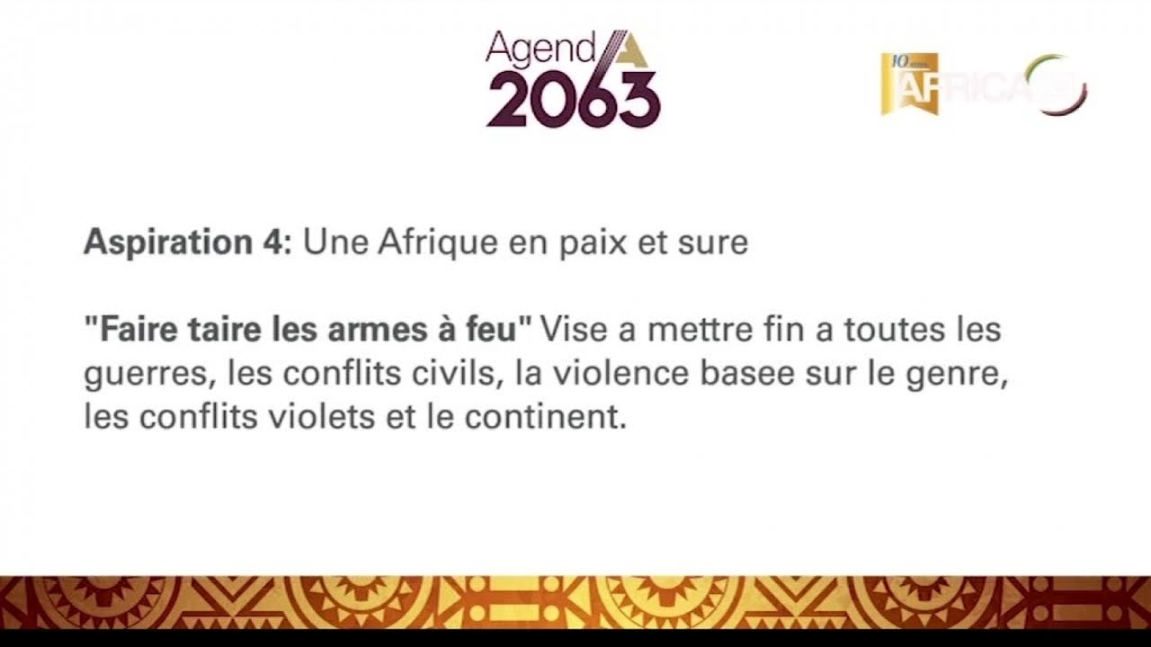 DOCUMENTAIRE : Afrique, Union Africaine : Silencing the guns by 2020