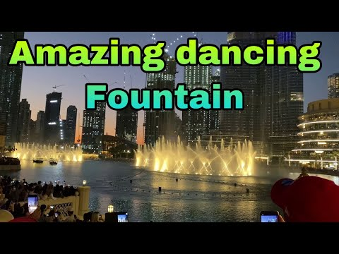 Amazing dancing fountain show in dubai 2019 || water fountain dubai || burj khalifa ||