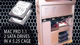 installing 2 sata drives in a 5.25 cage