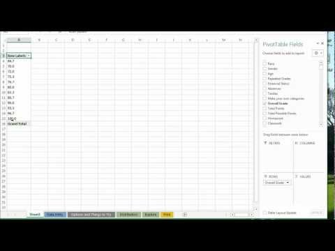 Make Histogram of Student Scores in Excel - No Formulas!