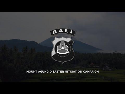 Mount Agung Disaster Mitigation Campaign by Polda Bali