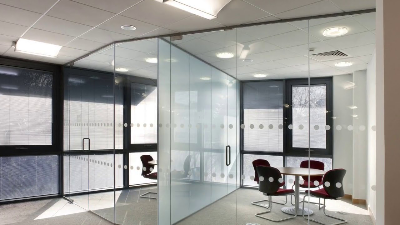Glass Partition Wall for Office Designs - YouTube