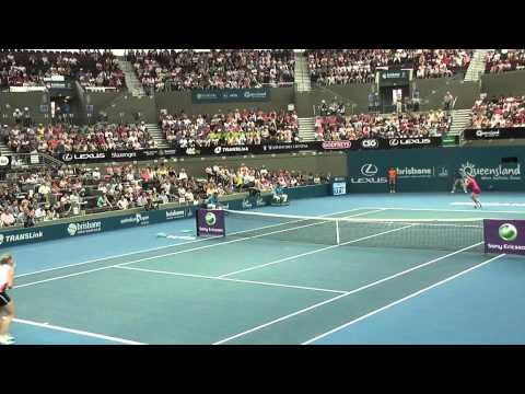 HD TENNIS 2011 Jelena Dokic whitewash 6 0 - 6 1 by Andrea Petkovic from GER BRISBANE