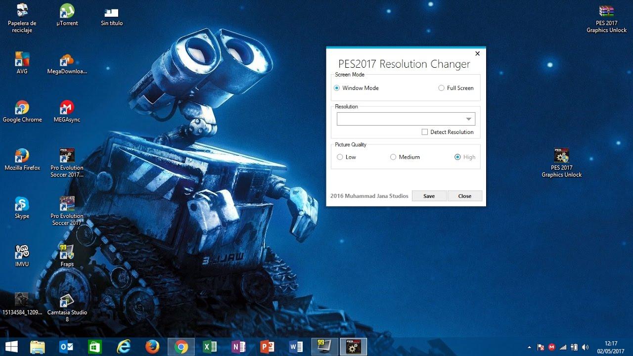 Forzar gráficos y resolución del PES 2017 en Placas Intel HD graphics