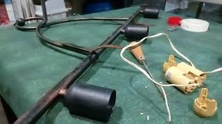 Como cambiar los casquillos en una lampara de techo que no funciona
