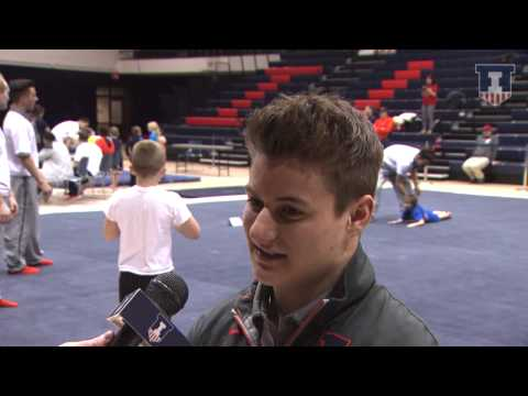 Illinois Men's Gym Bobby Baker Post-Meet Interview 2-14-15