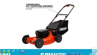 BATTERY LAWN MOWER ECLM-58V