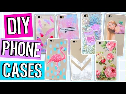 10 DIY PHONE CASE ideas! Using ONE case! Marble, Holo, Tumblr & more!