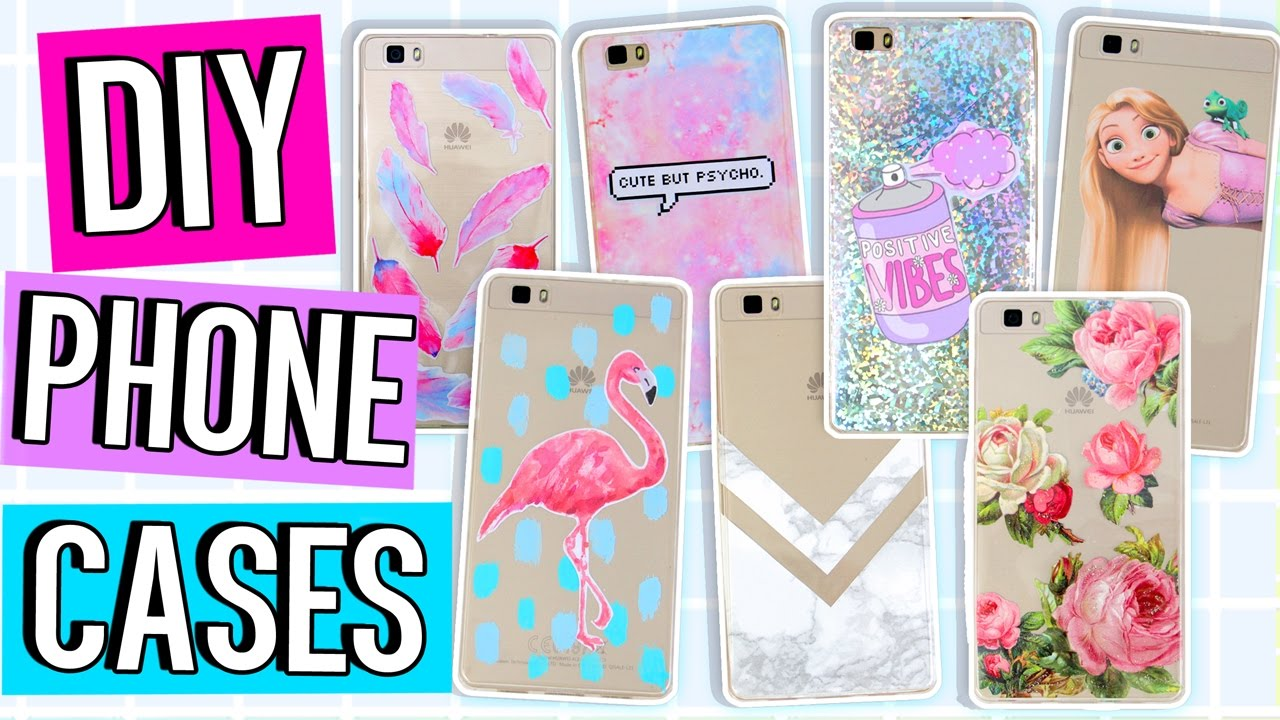 10 Diy Phone Case Ideas Using One Case Marble Holo Tumblr More